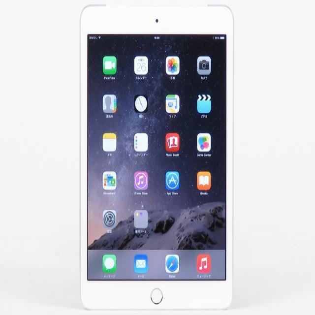 iPad mini 3 Wi-Fi Cellular 128GB シルバー 【au】 MGJ32J/A【送料無料】